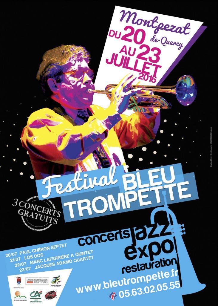 Affiche bleu trompette 20